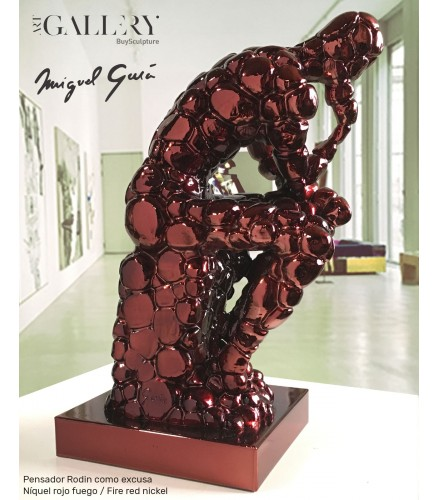 Rodins Denker als Entschuldigung