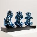 Weise Affen Blau